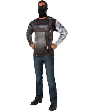 ערכת תלבושות מלחמת האזרחים ג'יימס בארנס גברים קפטן אמריקה