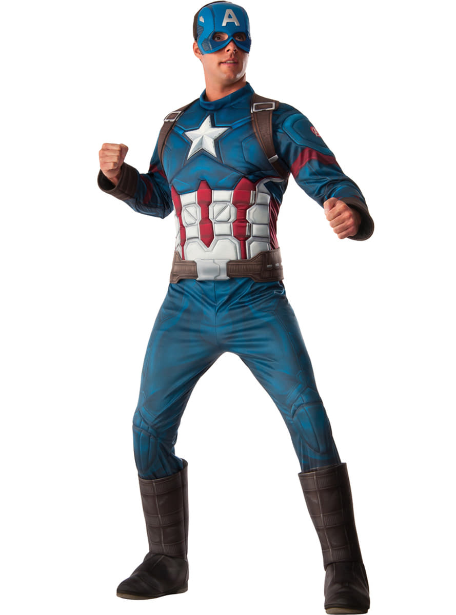 addb5ede31 Men s Deluxe Captain America Civil War Costume. Buy on Funidelia at ...