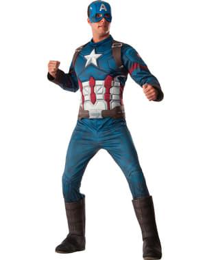 Captain America kostume deluxe til mænd - Civil War