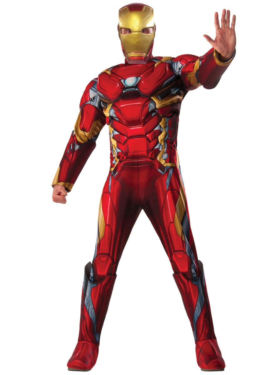 c0e66c2fc55 Men s Deluxe Iron Man Captain America Civil War Costume. Detalle  Zoom