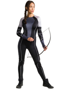 Costume da Katniss Everdeen Hunger Games La ragazza di fuoco per donna