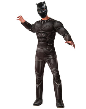 Чоловіча делюкс Чорна пантера Капітан Америка костюм громадянської війни