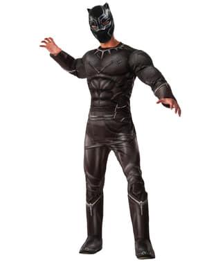 Deluxe Svart Panter Captain America Borgerkrig Kostyme Mann