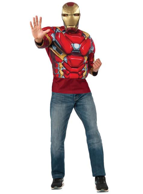 Kit disfraz de Iron Man musculoso para hombre