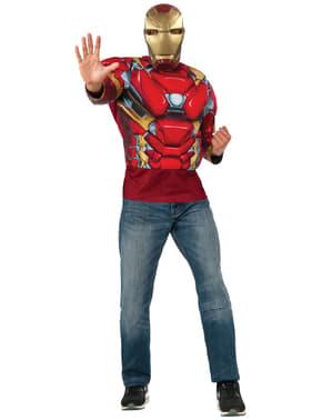 Мъжка мускулна желязна мъж Капитан Америка гражданска война костюм Kit