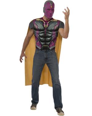 Gespierde Vision Captain America Civil war Kostuum kit voor mannen