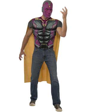 Мъжка мускулна визия Комплект за костюми за гражданска война Капитан Америка