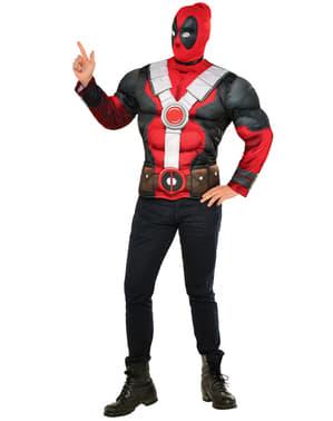Muskuløs deadpol kostyme sett til mann