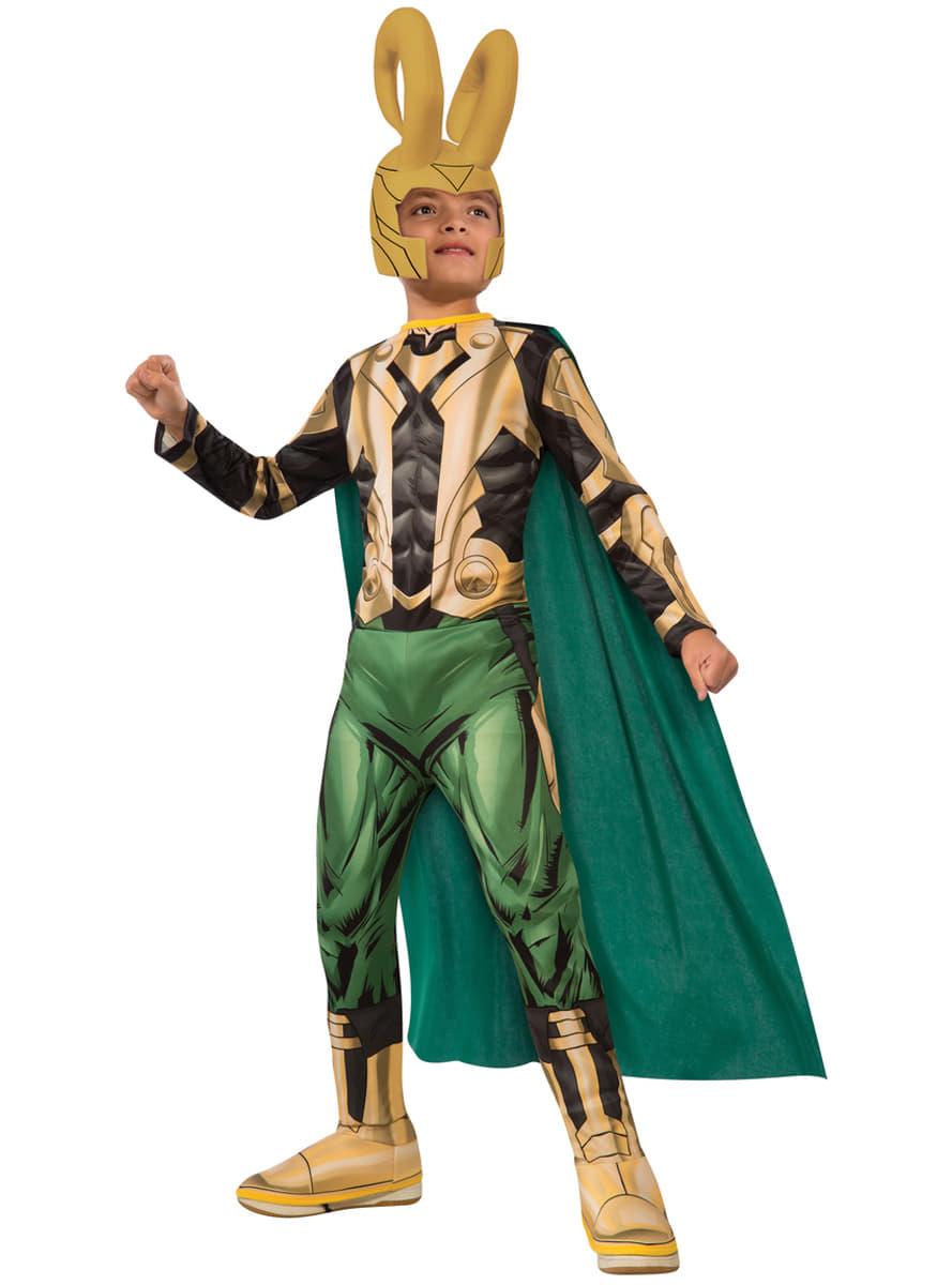 costume da loki the avengers per bambino consegna express