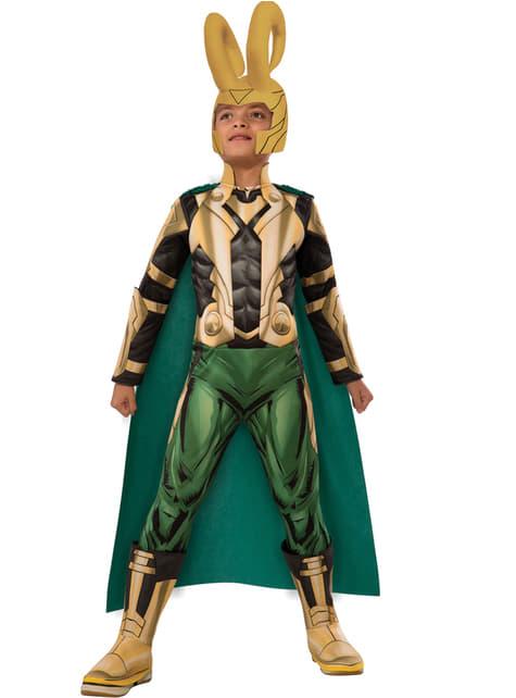 Chlapecký kostým Loki Avengers deluxe