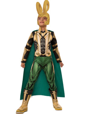 Klassinen The Avengers Loki deluxe-asu pojille