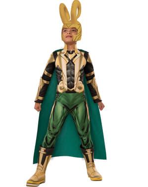 Loki Kostüm deluxe für Kinder aus The Avengers