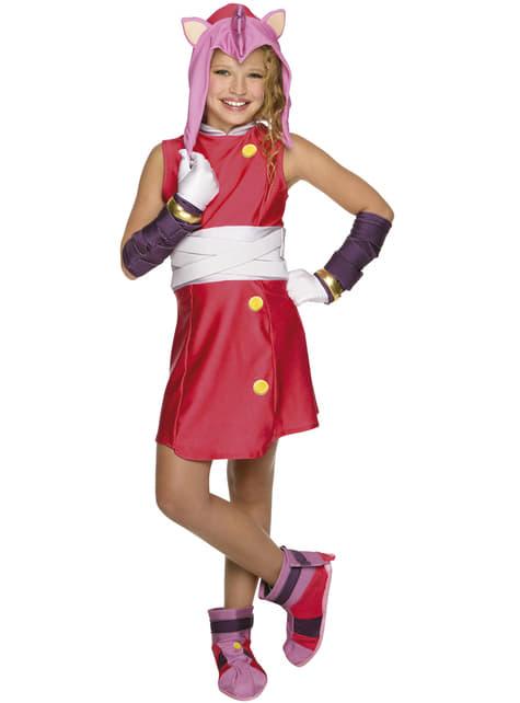 Amy Sonic Kostuum voor meisjes