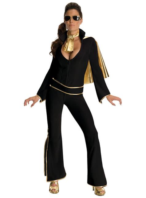 Disfraz de Elvis sexy negro para mujer