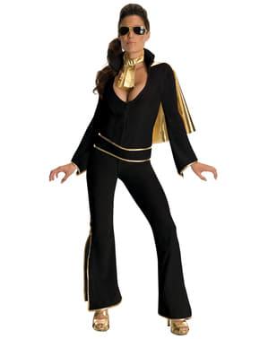 Disfraz de Elvis negro para mujer