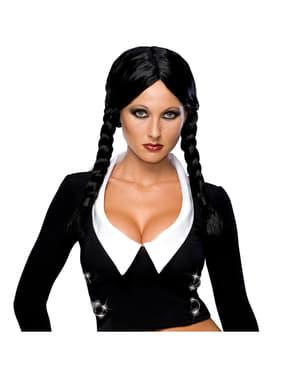 Peruca de Wednesday A Família Addams deluxe para mulher