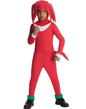 Fato de Knuckles Sonic para menino