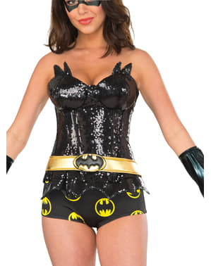 Corsé de Batgirl brillante para mujer