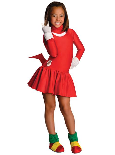 Knuckles Sonic Kostuum voor meisjes