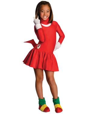 Costum Knuckles Sonic pentru fată