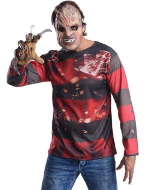 Kit fato Freddy Krueger para homem