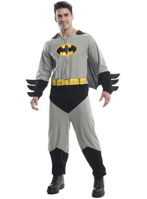 Fato de Batman onesie para homem