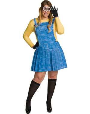 Kadın Plus Size Minion Kostüm