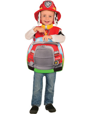 子供用マーシャルトラック足パトロール衣装