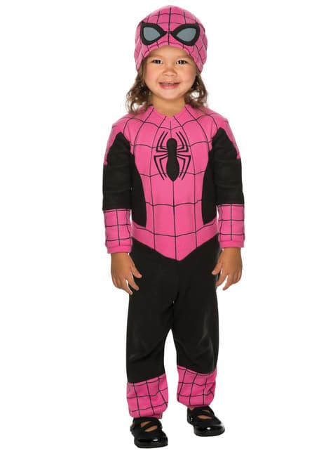 Disfraz de Spidergirl rosa para bebé