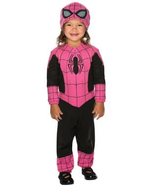 Spidergirl Kostüm rosa für Babys