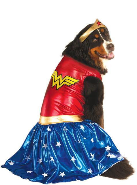 Disfraz de Wonder Woman para perro talla grande