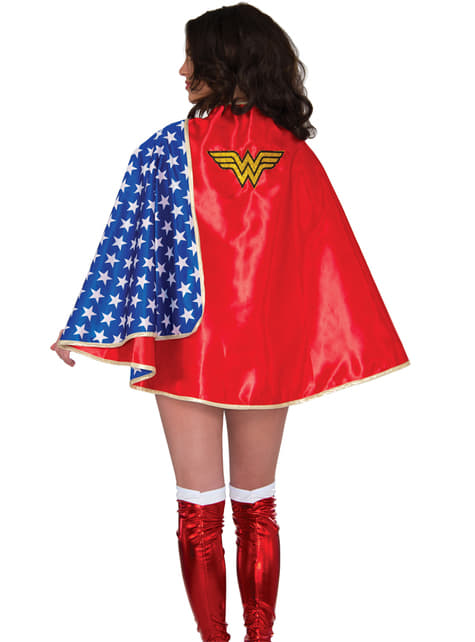 Wonder Woman Donna T-SHIRT E Mantello Costume