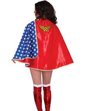 Cape Wonder Woman deluxe voor vrouw