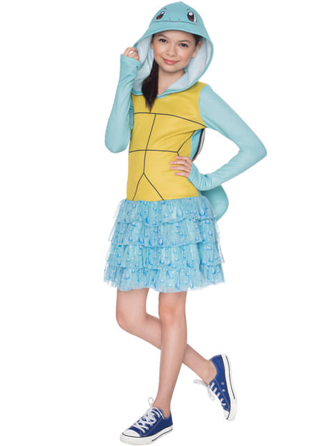 Girl's Squirtle Pokémon Costume
