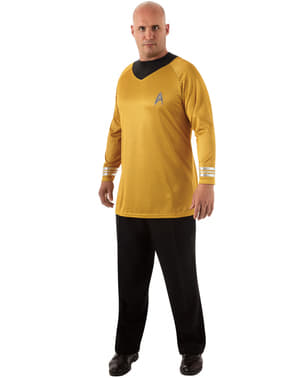 Disfraz de Capitán Kirk Star Trek para hombre talla grande