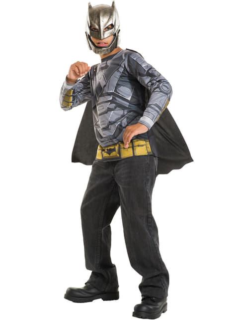Kit disfraz de Batman armadura Batman vs Superman para niño