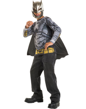 Kit disfraz de Batman armadura Batman vs Superman para niño