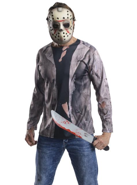Kit disfraz de Jason Viernes 13 con machete para adulto