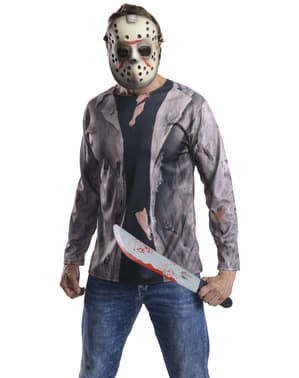 Jason Friday 13th with machete costume kit for adults