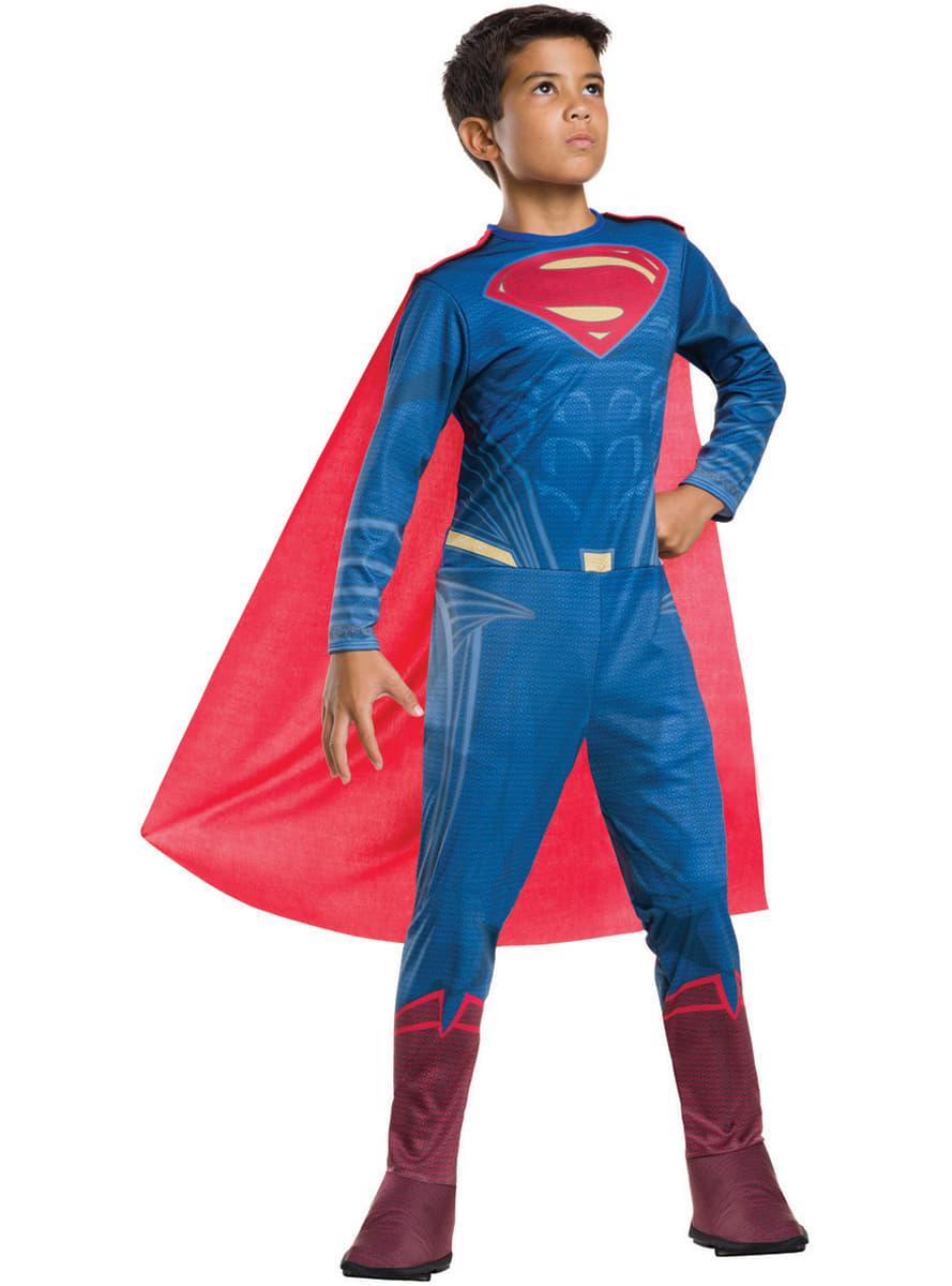 superman kost m f r jungen aus batman vs superman funidelia. Black Bedroom Furniture Sets. Home Design Ideas