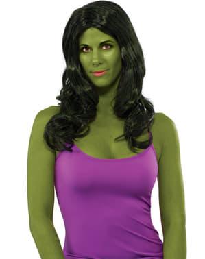 Peruca de She Hulk para mulher