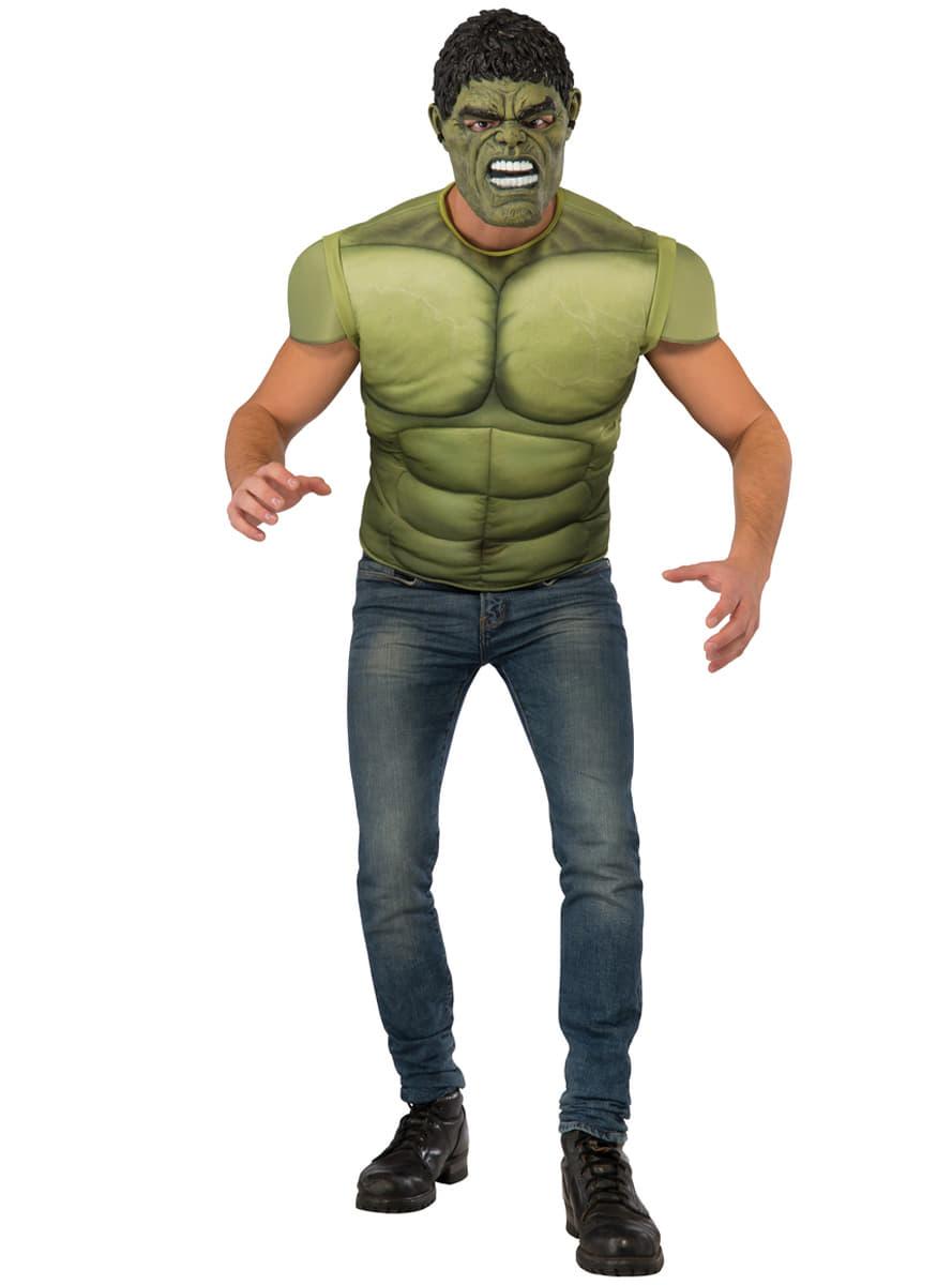 Menu0027s Muscular Hulk Costume Kit. Detalle Zoom  sc 1 st  Funidelia & Menu0027s Muscular Hulk Costume Kit