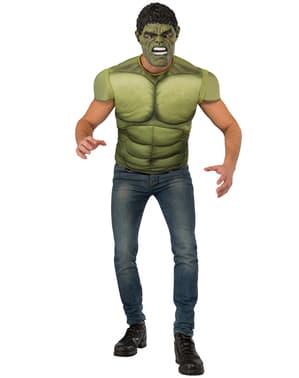Kit fato de Hulk musculoso para homem