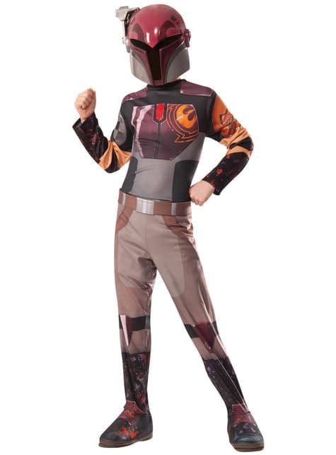 Fato de Sabine Wren Star Wars Rebels para menina