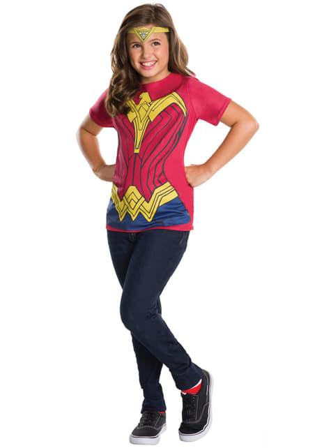 Kit fato de Mulher-Maravilha, Batman v Super-Homem para menina