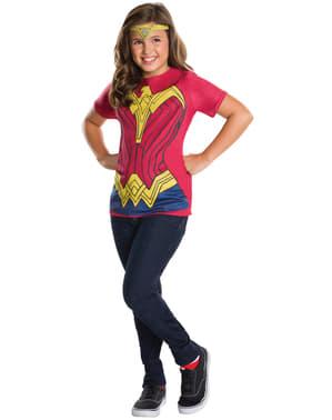 Batman vs. Superman Wonder Woman kostume med tiara til piger
