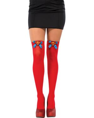 Autoreggenti rosse da Supergirl per donna
