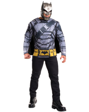Kit disfraz de Batman armadura Batman vs Superman para hombre
