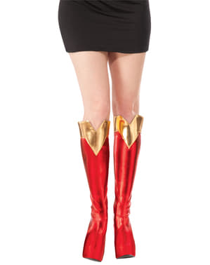 Tapa botas de Supergirl para mulher