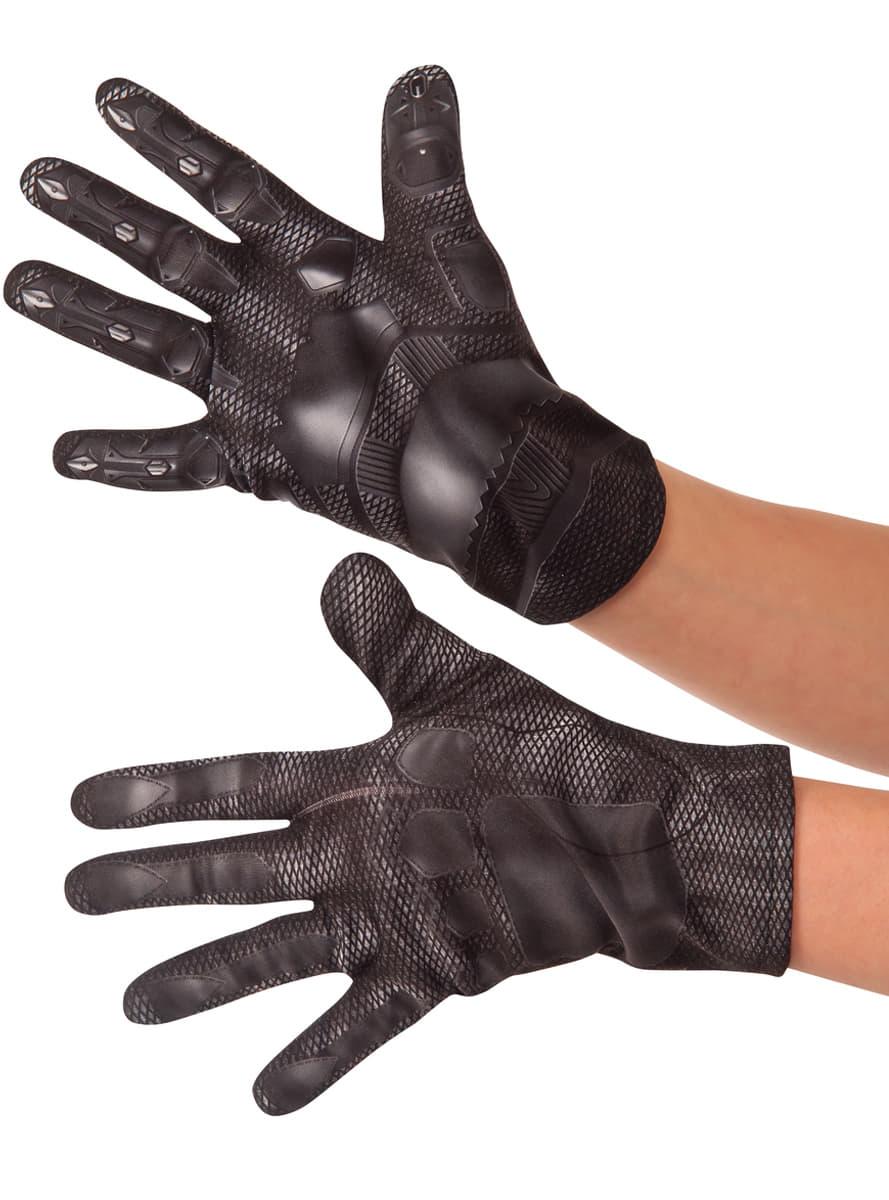 black panther handschuhe f r jungen aus the first avenger. Black Bedroom Furniture Sets. Home Design Ideas